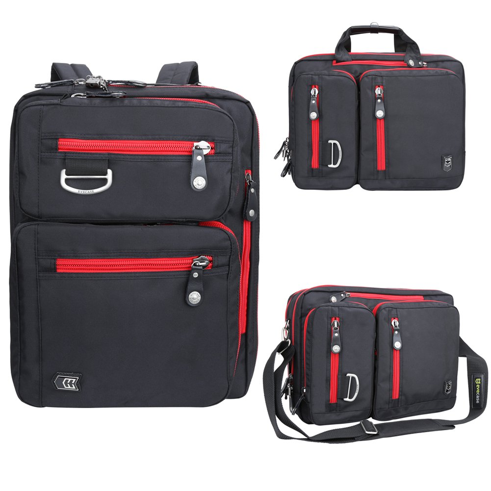 Laptop Briefcase Backpack Evecase Unisex Lightweight Convertible Laptop Messe.. 16