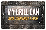 Novelty My Grill Can Mat, 18 by 27-Inch, Multicolor