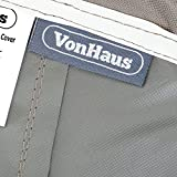 VonHaus Large Patio Bench Seat Cover - 'The Storm Collection' Premium Heavy Duty Waterproof Outdoor Furniture Protection - Slate Grey with Beige Trim - L78 x W35 x H24-32 inches
