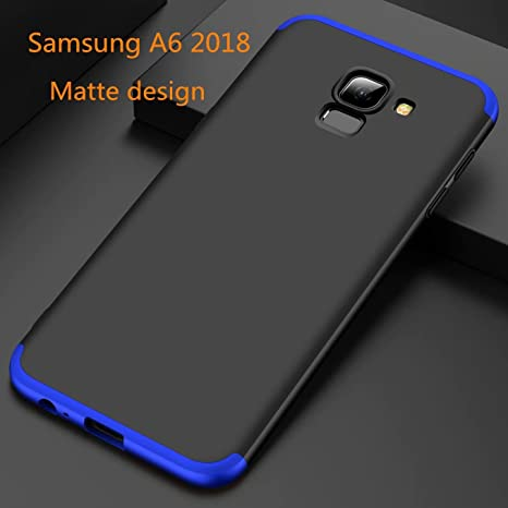 AILZH Compatible con Funda Samsung Galaxy A6 2018 carcasa+[Cristal ...