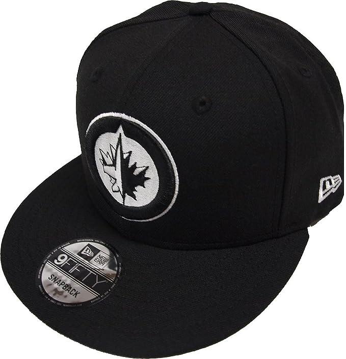 5562ca759 New Era Winnipeg Jets Black White Logo Snapback Cap 9fifty Limited ...