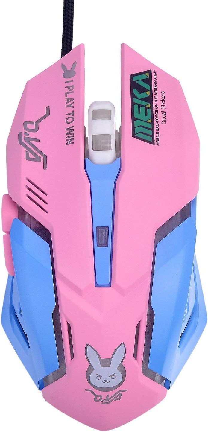 OW Mouse Breathing LED Backlit Gaming Mouse D.VA Genji Reaper Wired USB Computer Mouse for PC& Mac E-sports Gamers