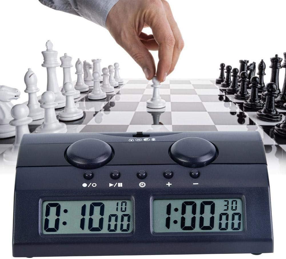 Bnineteenteam Reloj de ajedrez Juego de Mesa Reloj de ajedrez con LCD Juegos múltiples Temporizador electrónico Temporizador de Juego Temporizador de Cuenta Regresiva Temporizador de Cuenta Regresiva: Amazon.es: Deportes y aire libre