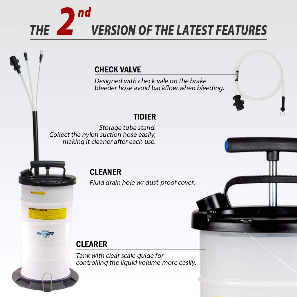 FIRSTINFO 9.5L Manual Operation Oil or Fluid Extractor by FIRSTINFO TOOLS FIT YOUR NEEDS (Image #2)