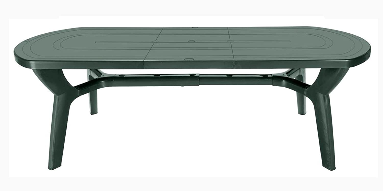 GBSHOP Tavolo da giardino allungabile in plastica/resina 180/230 cm ...