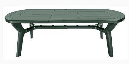 Gbshop tavolo da giardino allungabile in plastica resina 180 230 cm