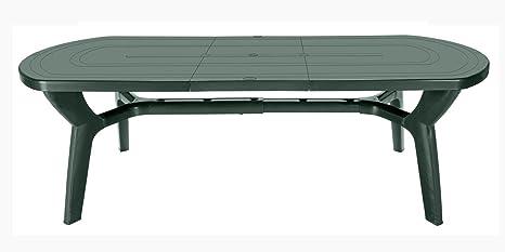 Tavoli Per Esterno In Resina.Gbshop Tavolo Da Giardino Allungabile In Plastica Resina 180 230 Cm
