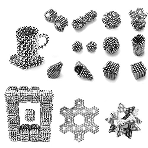 5mm Magnetic Fidget Blocks Ball, EVERMARKET Magnetic Sculpture Toy for Intelligence Development, a Great Toy for Office, Home, and Everywhere - with a Metal Gift Box (512 pcs,1 Box) by EVERMARKET INC (Image #2)