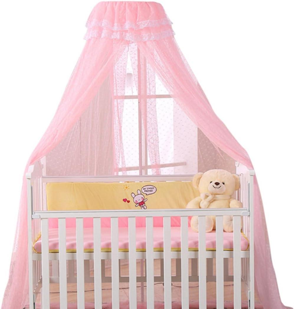 HengST Mosquitera para Cama de Bebé, Mosquito Net para Cuna Bebe Niño o Niña, sin Soporte Rosado