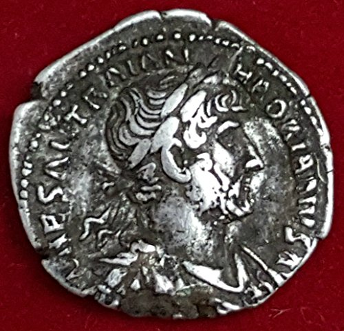 Denarius- Struck 119-122 CE. bust of Hadrian right, IMP CAESAR Silver Roman Coin (Ancient Coins Roman Silver)