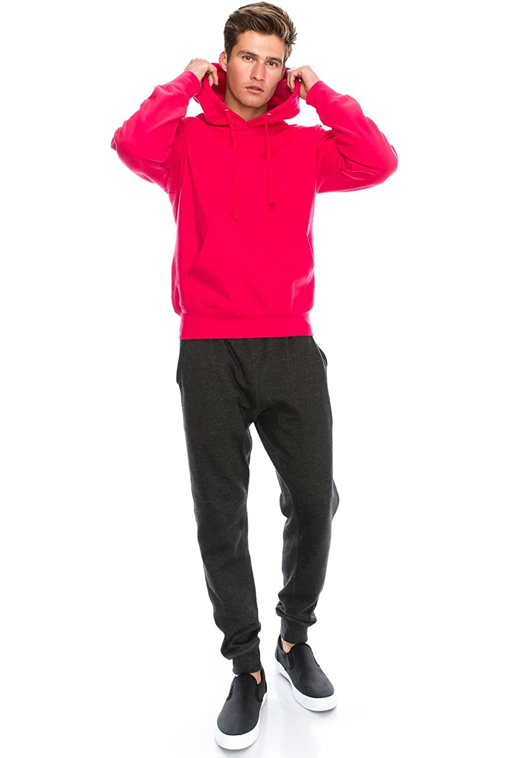 JC DISTRO Mens Hipster Long Sleeve Basic Active Slim Fit Causal Pullover Hoodie Sweatshirts