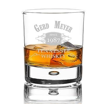 Elegant Verre à Whisky Personnalisable Avec Gravure Personnalisée Motif élégant  Décoré