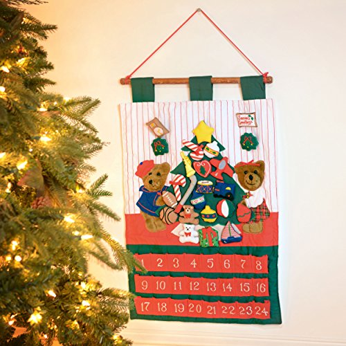 Advent Crafts Christmas (Kubla Crafts Teddy Bear Christmas Fabric Advent Calendar)