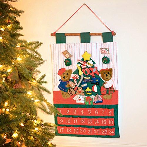 Kubla Crafts Teddy Bear Christmas Fabric Advent Calendar