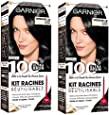 Garnier - 100% Ultra Brun - Kit Racines Réutilisable Noir - Retouche Noir 1.0 Lot de 2