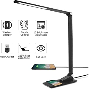 Amazon.com: Schwaye Wireless Charger Stand LED Desk Lamp 4 ...
