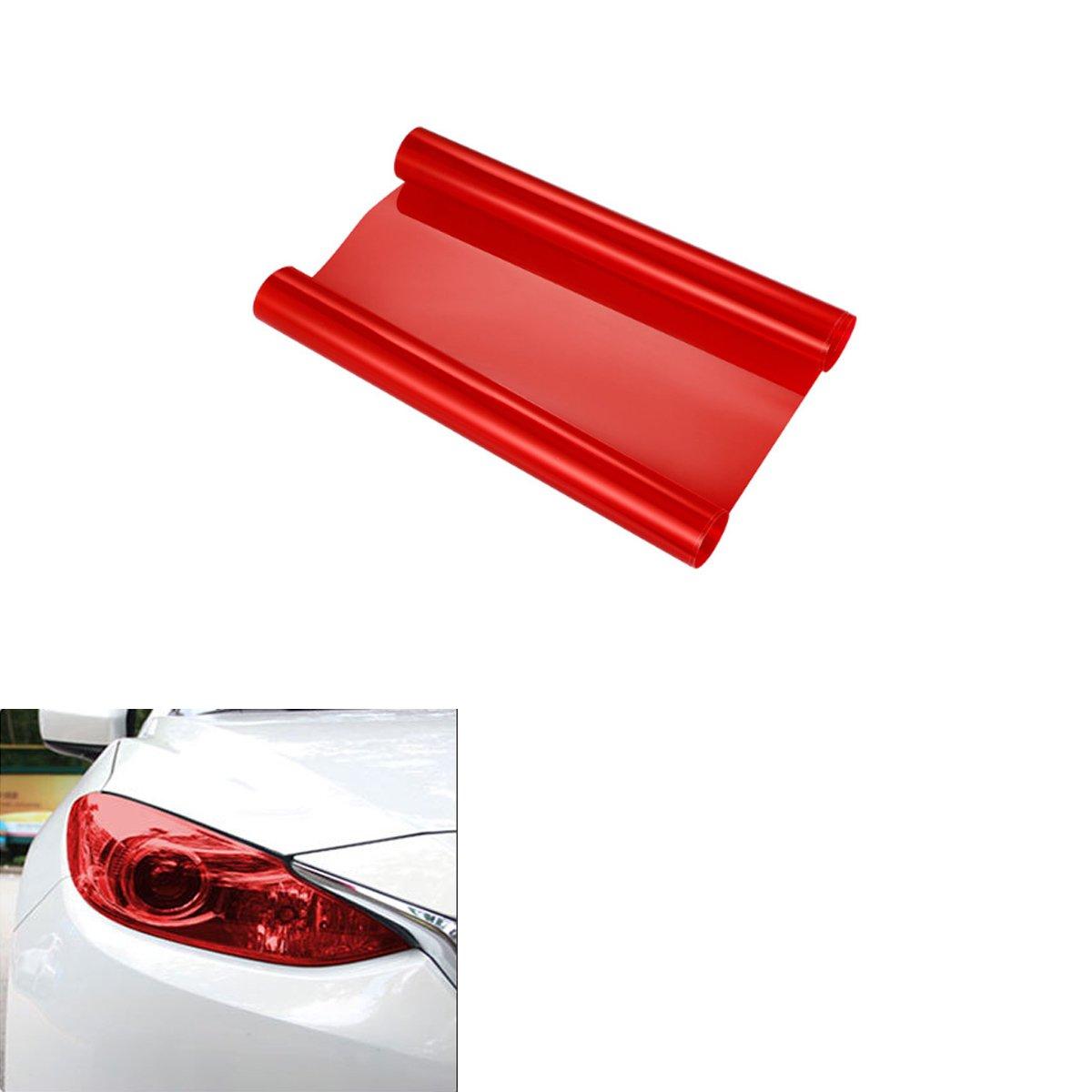 ABy 200cm x 30cm Scheinwerfer Folie Tö nungsfolie Aufkleber fü r Auto Scheinwerfer Rü ckleuchten Blinker Nebelscheinwerfer(Schwarz) AutoBoy