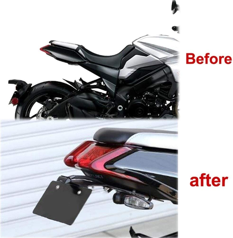 Portatarga porta targa moto For Suzuki GSX-GSXS1000S S 1000 S Katana GSXS1000S 2019 2020 di coda ordinata Fender Eliminator kit Supporto targa staffa Color : Black