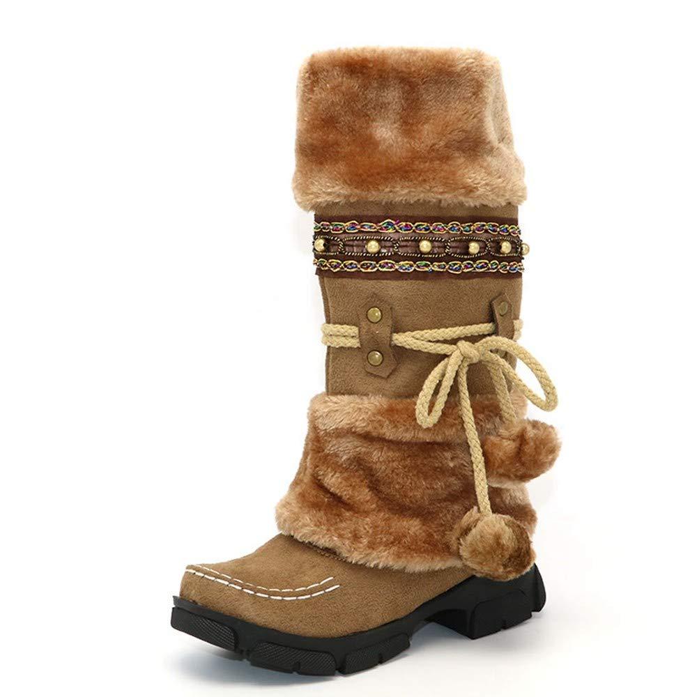 XPFXPFX Sport Freizeit Freizeit Freizeit Mode Outdoor Art Und Weise Die Schnee-Stiefel Nach Innen Warme Winter-Schuh-Frauen-Plattform-Kniehohe Stiefel Bördelt 66112e