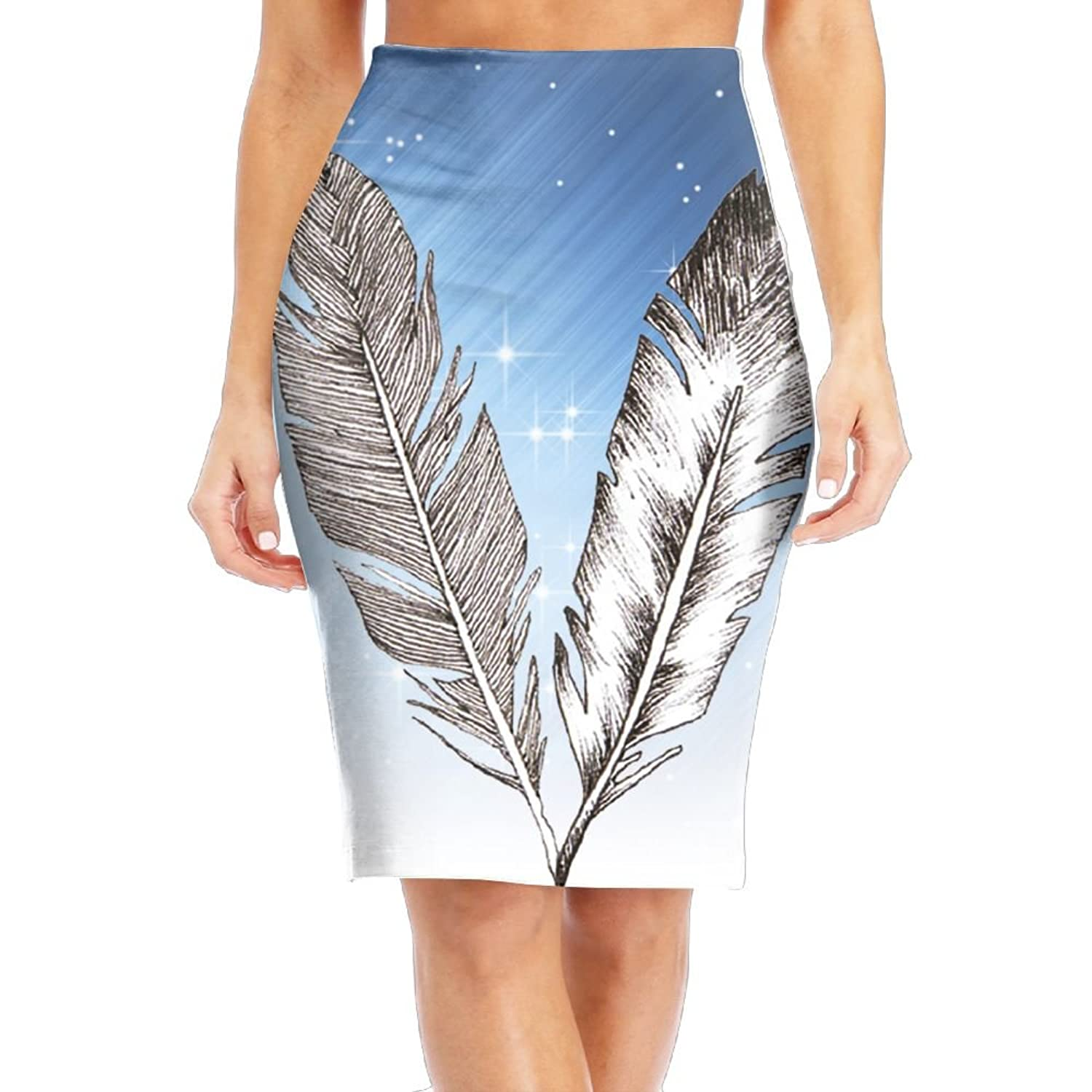 Top LULULUON Women Feathers In Black and White Check Designed Office Skirts Midi Pencil Skirt Slim Fit Business Skirt for cheap