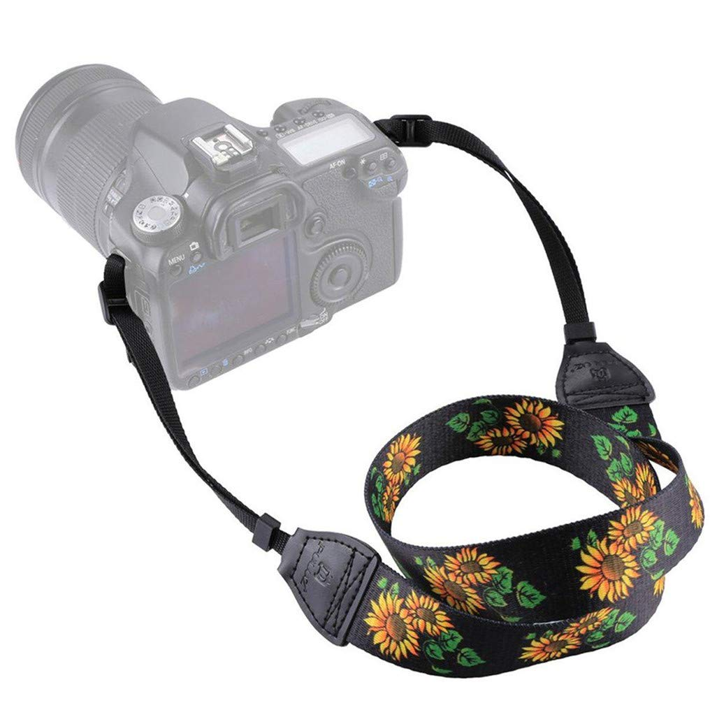 GUAngqi Retro Classical Camera Strap Camera Single Shoulder Lens Strap Camera Neck Strap for Canon Nikon Sony DSLR Camera,Sunflower Color,Cotton by GUAngqiqi (Image #5)