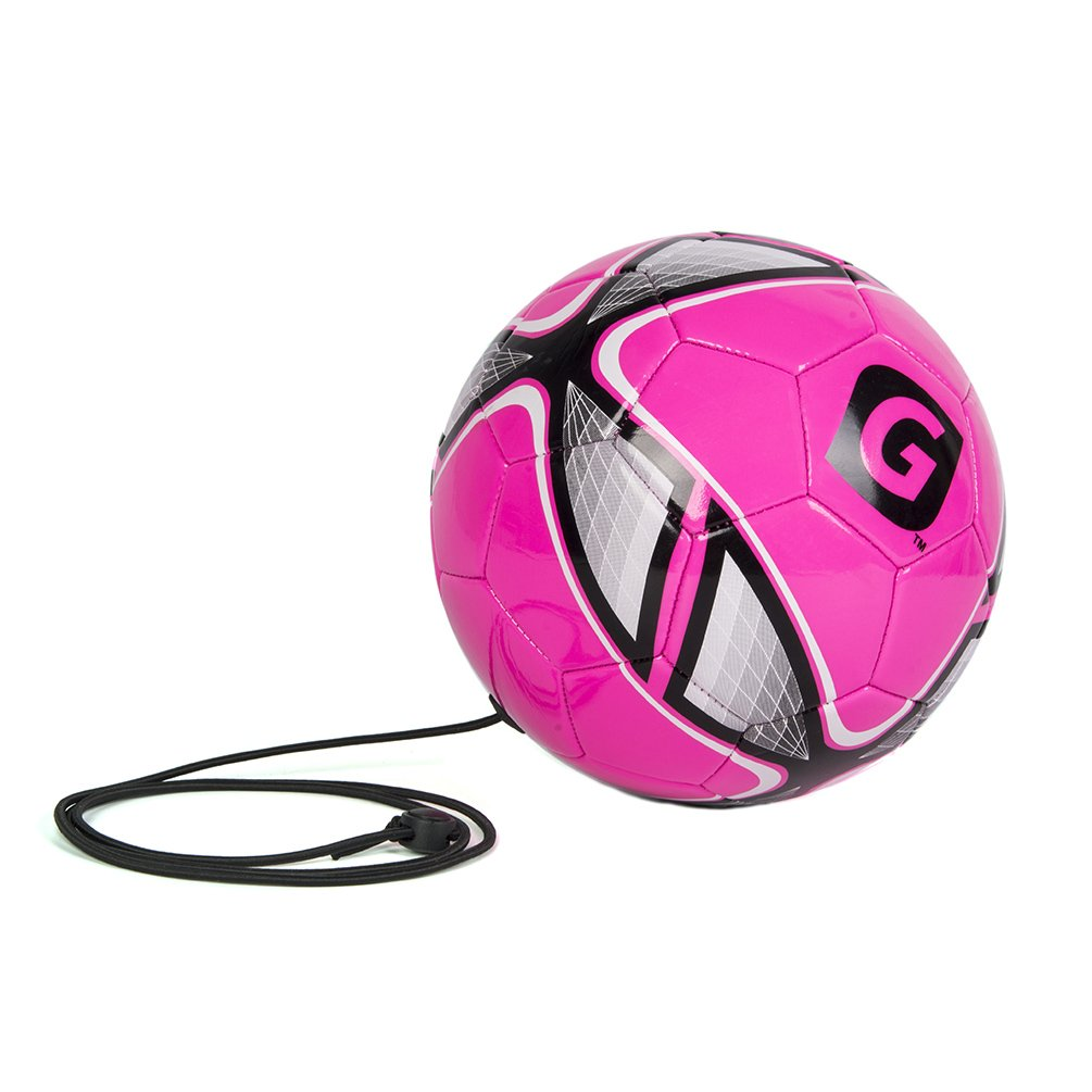 GLORY Sports Tetherball Official Size 4 with Rubber Bladder, Rose Red