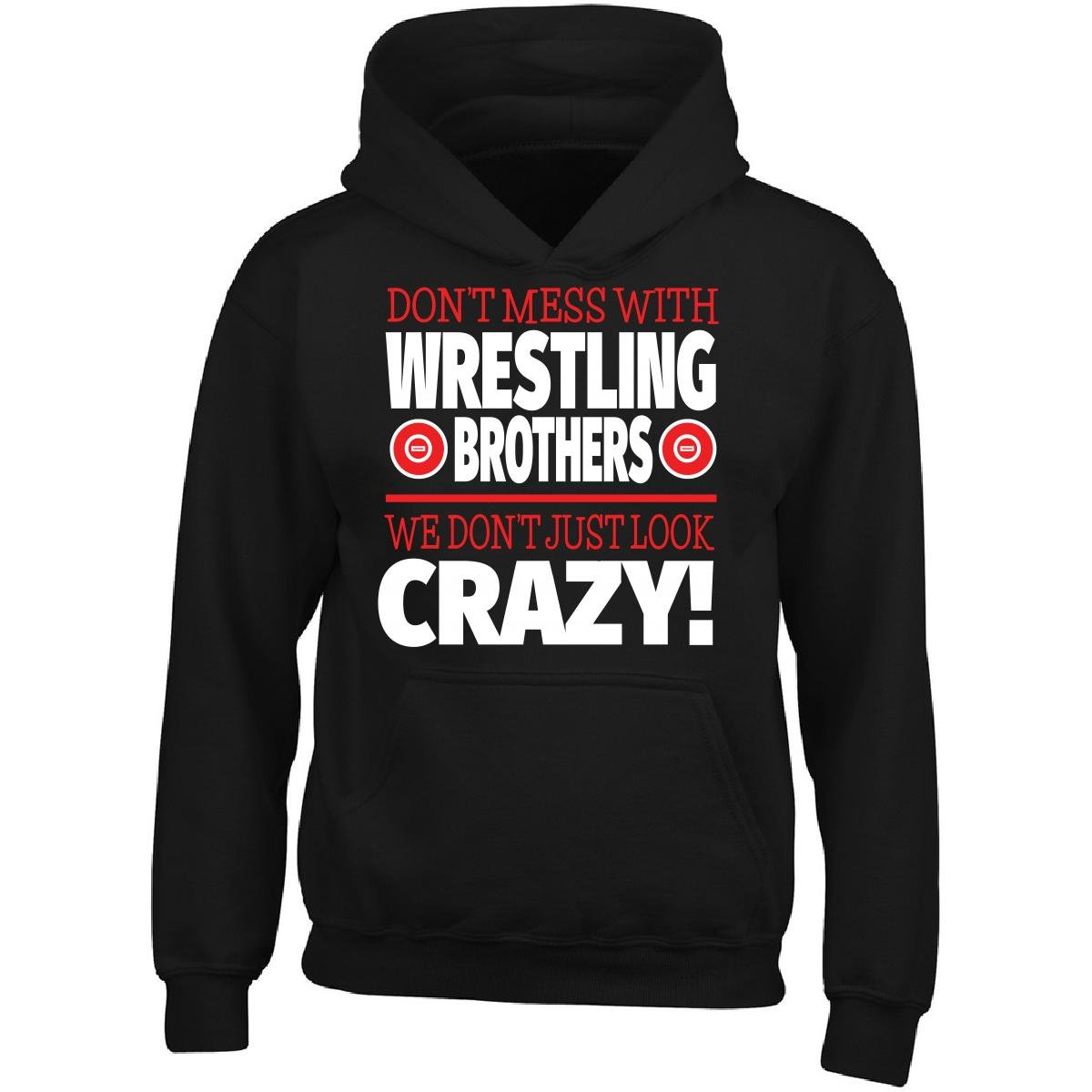 Crazy Wrestling Family - Don't Mess With Wrestling Brothers - Adult Hoodie by Eternally Gifted