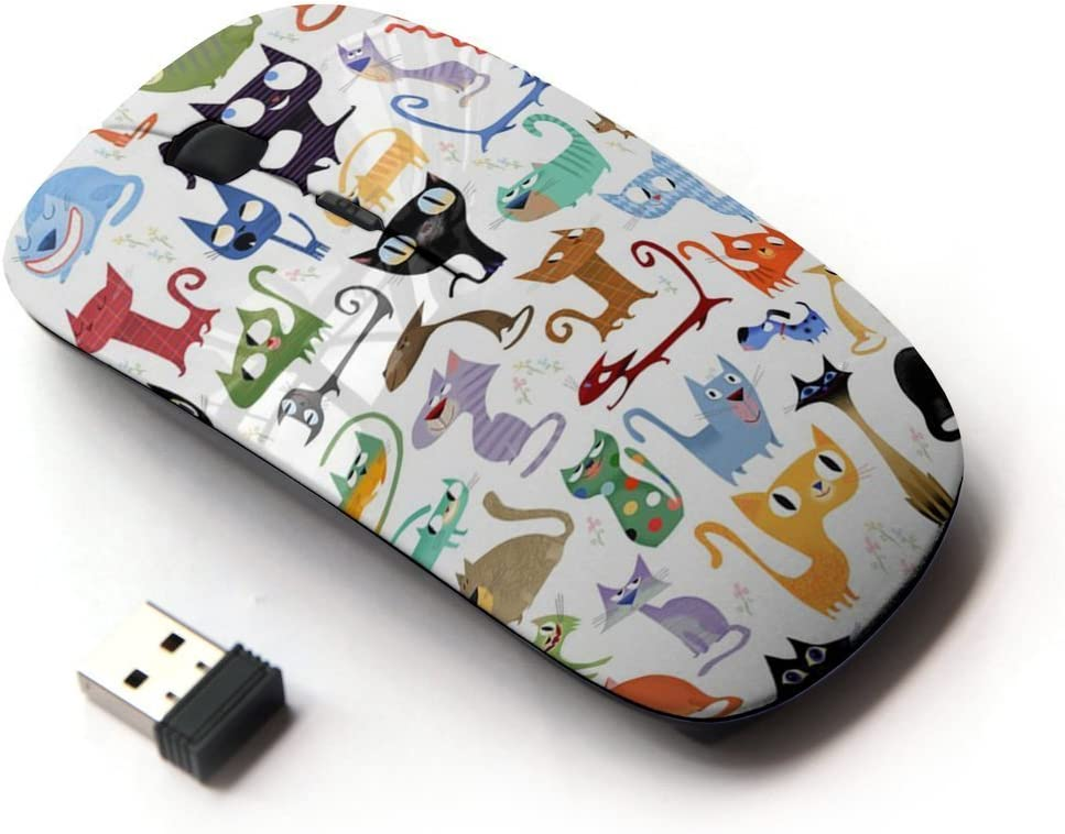 KOOLmouse [ Optical 2.4G Wireless Mouse ] [ Abstract Cat Pattern White Kittens ]