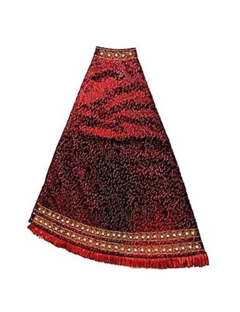 JAY STRONGWATER CHRISTMAS TREE SKIRT PUZZLE JEWELED EDGE BURGUNDY SIAM BRAND NEW by Jay Strongwater (Image #1)