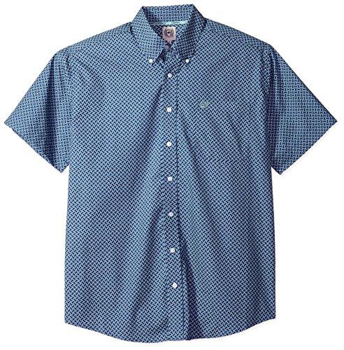 Cinch Mens Classic Fit Short Sleeve Button One Open Pocket Print Shirt