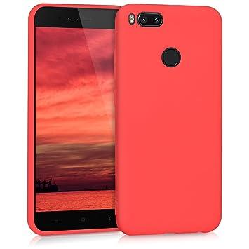 kwmobile Funda compatible con Xiaomi Mi 5X / Mi A1 - Carcasa de [TPU silicona] - Protector [trasero] en [rojo mate]