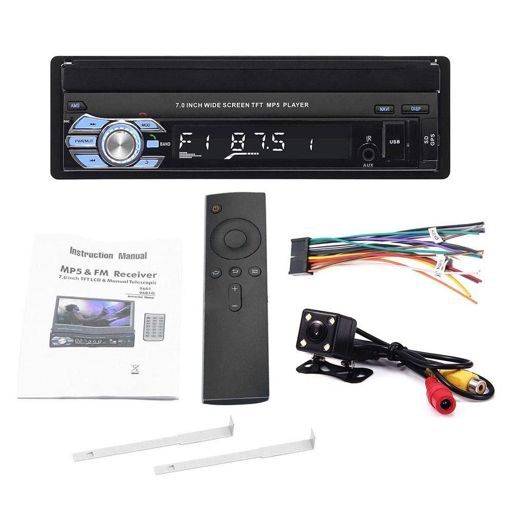 runnerequipment 1 DIN 7Bluetooth GPS Car MP5 Player Pantalla t/áctil Radio Est/éreo FM USB Receptor