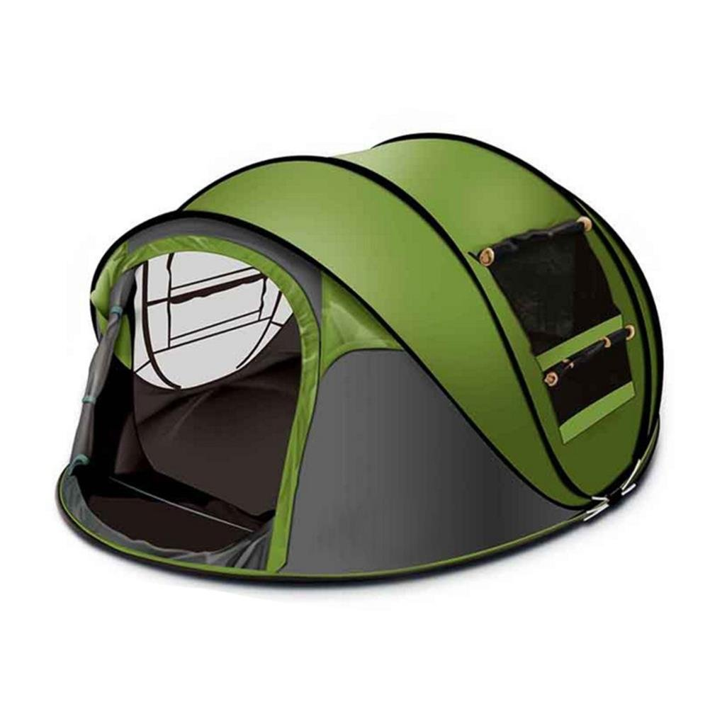 アウトドアワンタッチテント34人用折りたたみ簡易テント二つドア 防風、防雨チュウール高通気性紫外線カットテントJPTENT16Parent B07FX57C7M グリーン グリーン