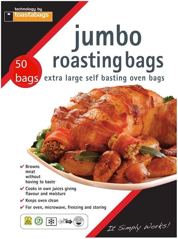 Toastabags Jumbo Oven Roasting Bags, 55 x 60cm,(Pack of 50)
