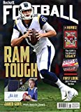 New Current Beckett Football Monthly Price Guide Magazine Card Value February 2018 Jared Goff Los Angeles Rams