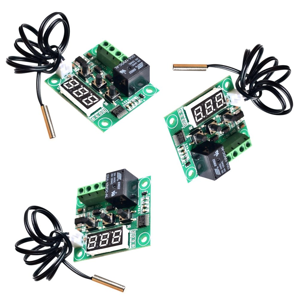 CHENBO(TM)3 Pack 12V DC Digital Cooling/Heating Thermostat Temp Control -50-110 °c Temperature Controller 10A Relay Module With Waterproof Sensor Probe