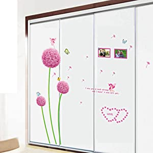 Dandelion Wall Stickers Love Wall Decal Mural Home Decor