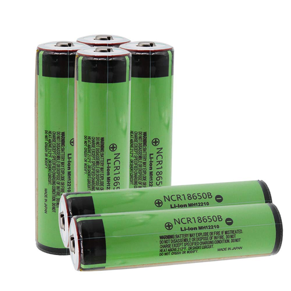 6 Shoppinghere Protected Button Top NCR18650B 3400mAh 3.7v Batteries by Shoppinghere