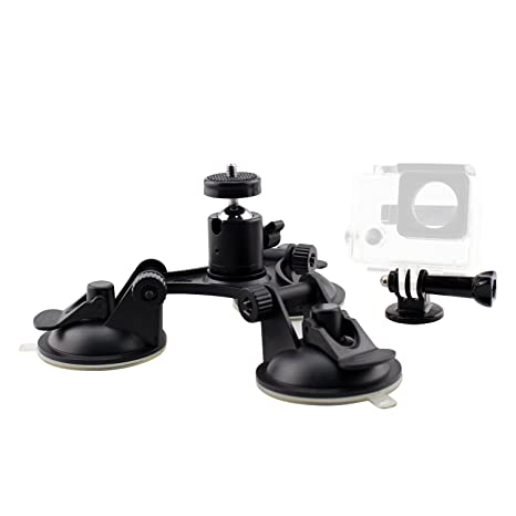 Amazon com : SIM&NAT Triple Suction Cup Mount with 1/4