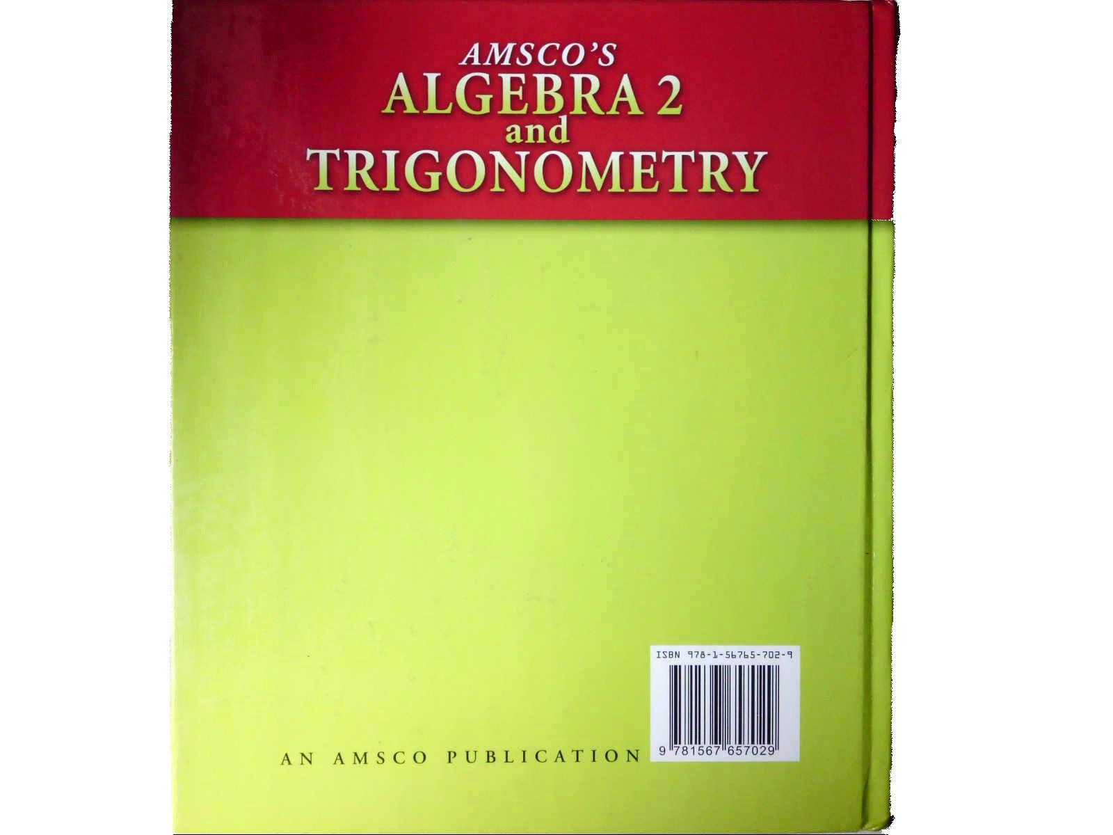 Amsco S Algebra 2 And Trigonometry Gantert 9781567657029 Amazon