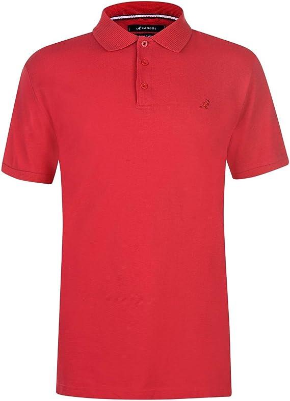 Kangol Hombre Brit Fit Camiseta Polo Rojo XL: Amazon.es: Ropa y ...