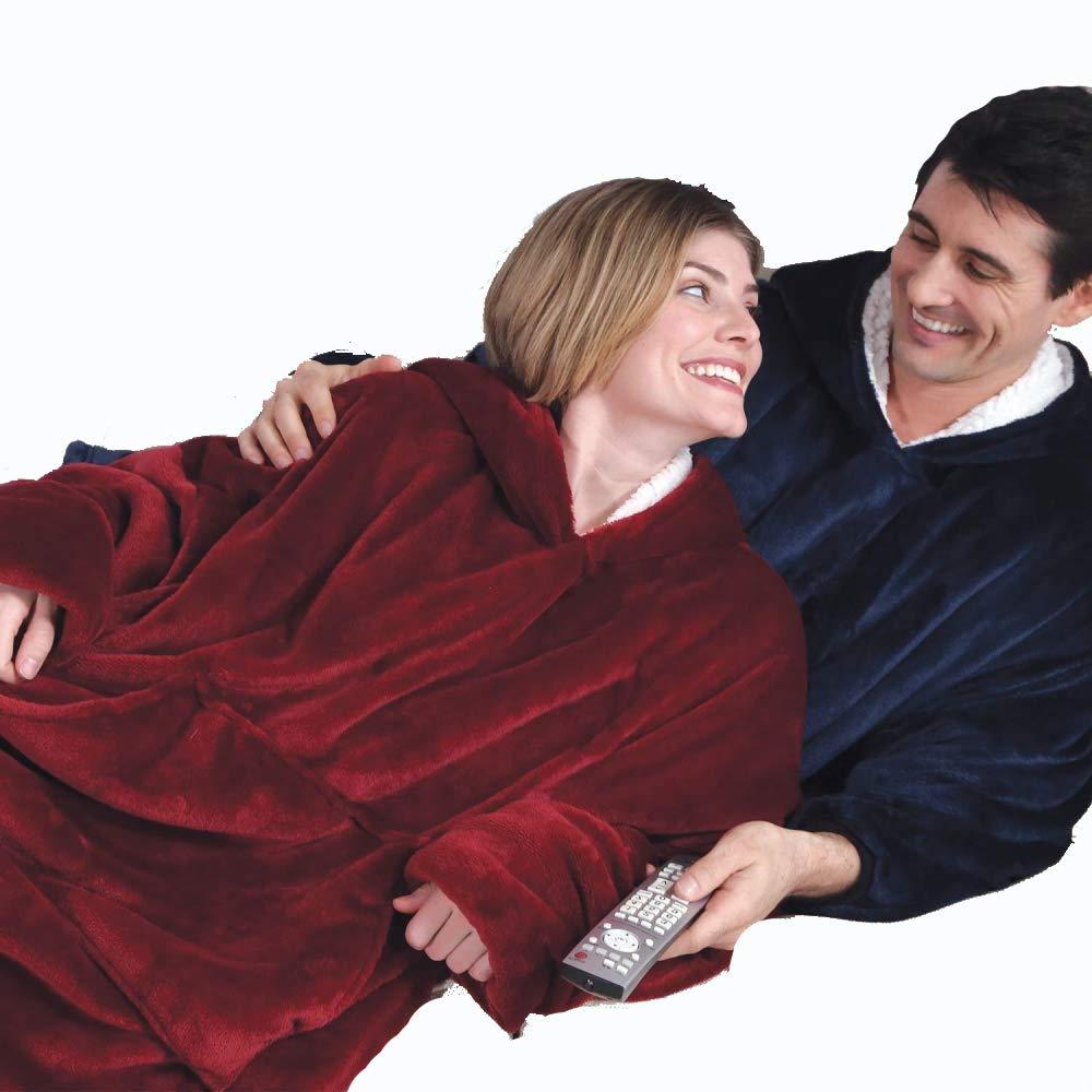 One Size Fit All Adults Homme Femme,BlanketSweatshirt Couverture g/éante Ultra Confortable en Peluche /à Porter comme Un Sweat-Shirt /à Capuche Qui ne manquera Pas de Vous Garder au Chaud cet Hiver