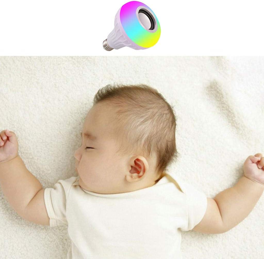 WEISHAZI Ampoule de musique LED /à changement de couleurs WiFi 4.0 Bluetooth sans fil st/ér/éo audio haut-parleur intelligent Mini amplificateur Design cr/éatif Multi-color