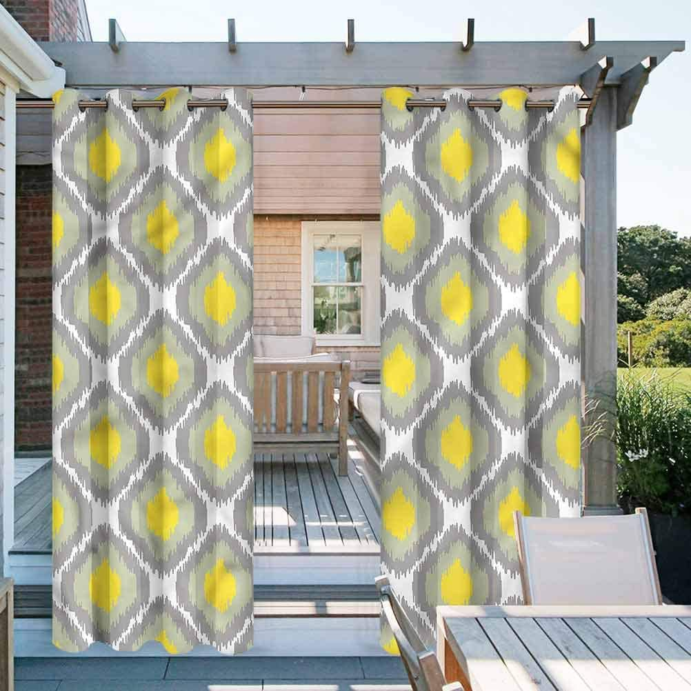 Ikat Outdoor Printed Curtains for Thermal Insulated Privacy Protected Old Form Shapes Bundles 100
