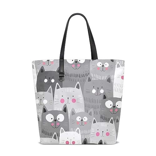 Bolsos de mujer de tela de poliéster con diseño de gatos de dibujos animados: Amazon.es: Zapatos y complementos