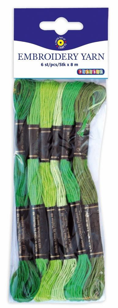 100 Pieces 100 Pieces Pbx2471001 Playbox 8m Embroidery Yarn In 42 Colours