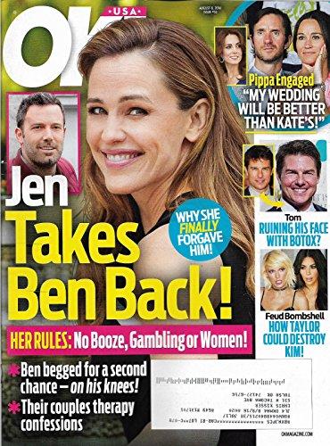 Jennifer Garner & Ben Affleck l Pippa Middleton l Tom Cruise - August 8, 2016 OK!