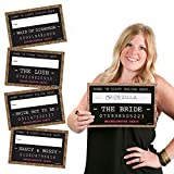 Girls Night Out Party Mug Shots - Bachelorette Party Photo Booth Props Party Mugshot Signs - 20 Count