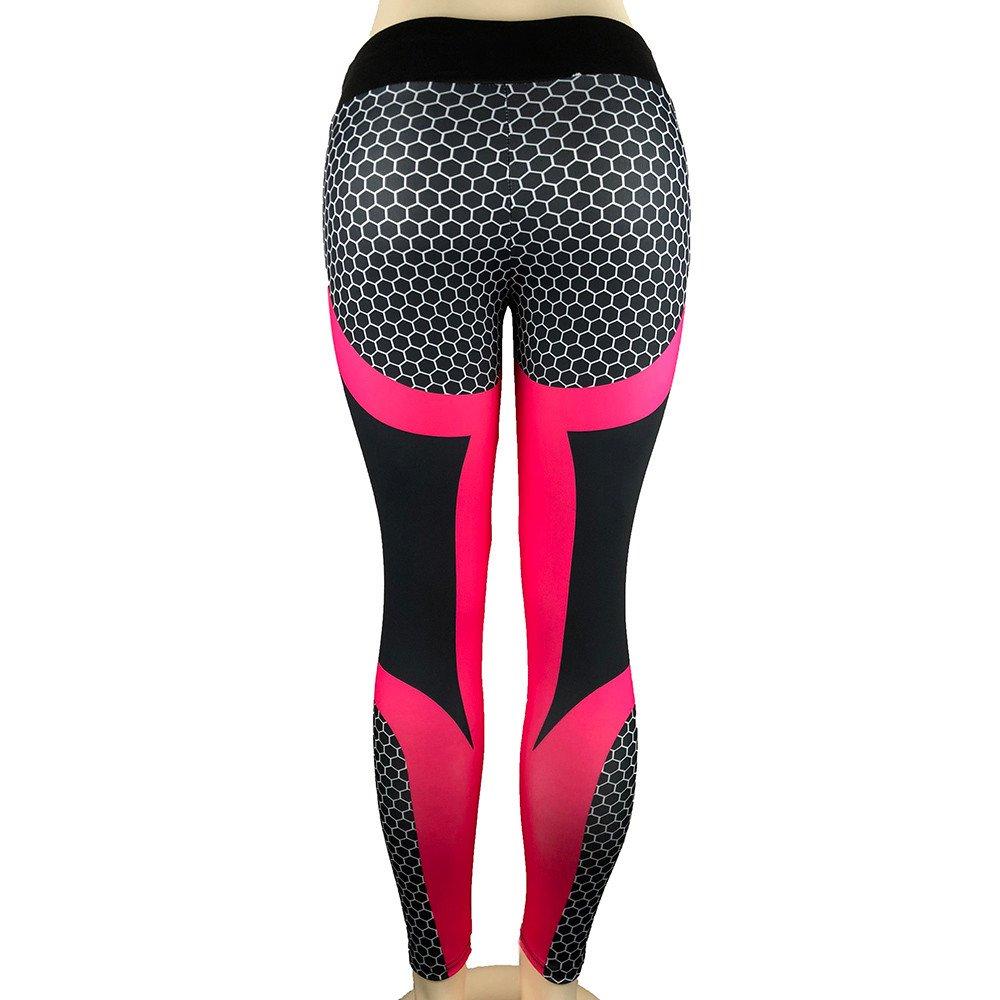 Gergeos Leggings for Women Sport Gym 3D Print Training Leggings Skinny Pants