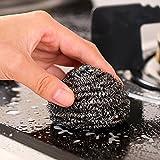 6 Pack Stainless Steel Sponges, Scrubbing